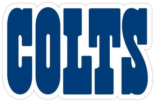 Indiana Colts Fan Vinyl Sticker Decal *MANY SIZES* Bumper Cornhole Truck