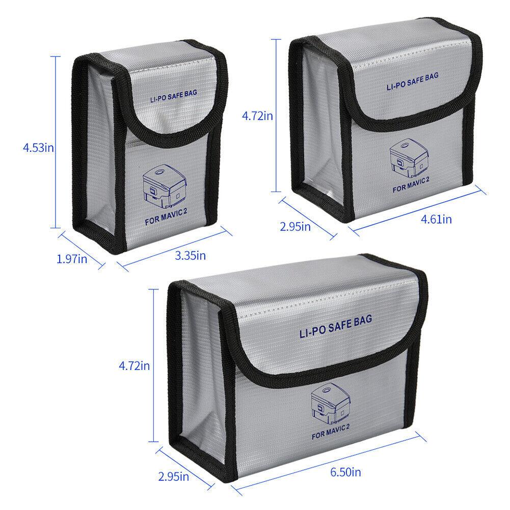 Lipo Battery Safe Bag Fit for DJI Mavic 2 - Fireproof Explos