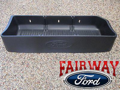 09 thru 14 F-150 OEM Genuine Ford Parts Black Cargo Storage Organizer - Crew Cab