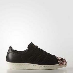 best service dcdf2 21791 Image is loading Adidas-Originals-superstar-80s-METAL-toe-TF-black-