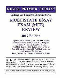 Multistate essay exam
