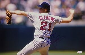 Roger Clemens Signed 12x18 Baseball Photo *Yankees *Red Sox PSA