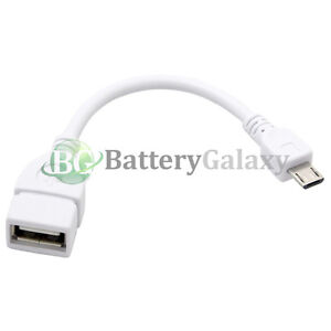 50 USB Micro B to A Adapter OTG Cord for Samsung Galaxy S4 S5 S6 S7 Note 3 4 5