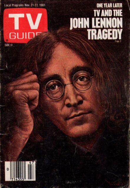1981 TV Guide November 21 - John Lennon; Nancy McKeon of Facts of Life; Ed Koch