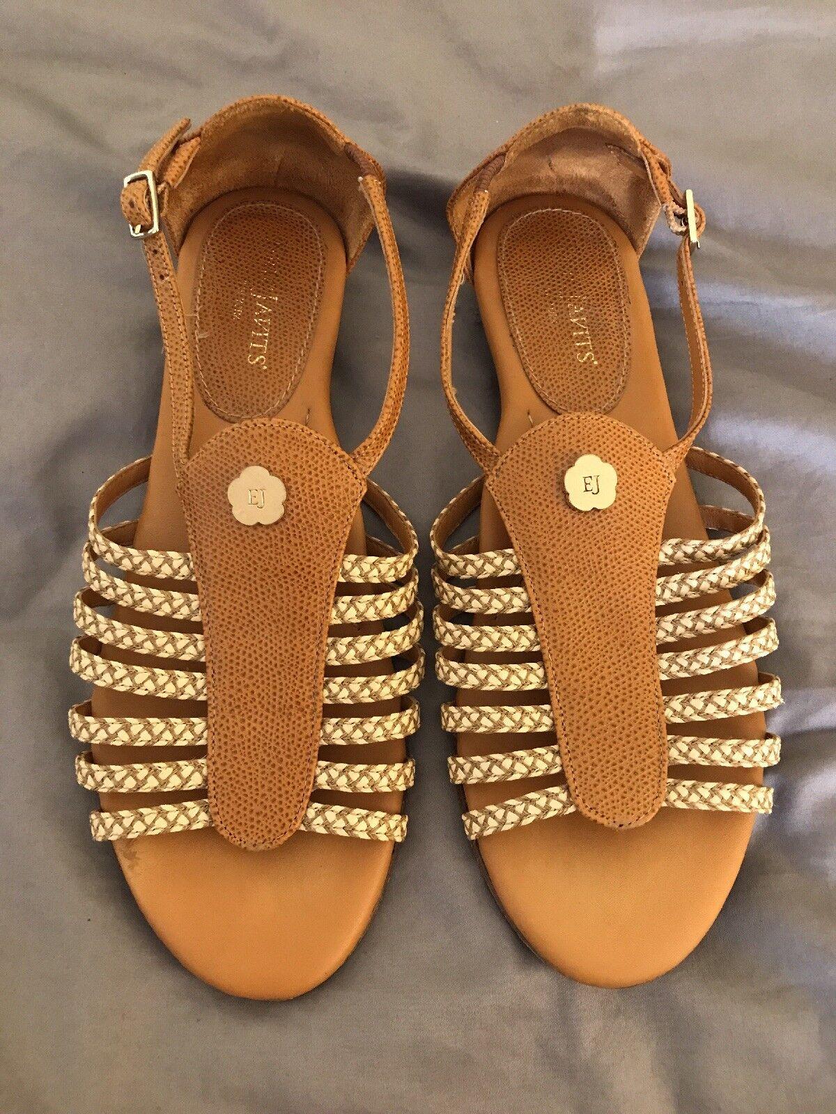 Eric flat Javits 250 Greco peanut flat Eric gladiator Sandale shoe. Damens's Größe 7.5 341e99