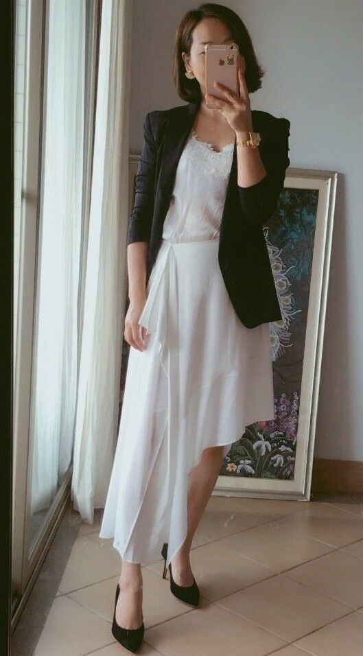 Acne Studios Pamsan Asymmetrical Silk Skirt in ivory white NEW