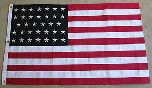 COTTON American National Flag Civil War Flag 34 Star Flag