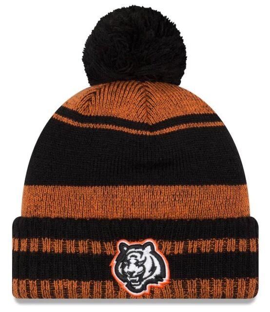 Adult New Era NFL Cincinnati Bengals Sport Winter Pom Knit Hat Cap Cuffed  Beanie 351bd3995eb
