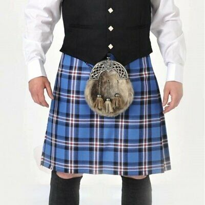 """Rangers 8 Yard Wool Kilt Ex Hire A1 condition limited stock 23//24//25/"""" Drops"""