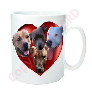Staffy-Gift-Mug-with-Hearts-amp-Dogs-Staffies-Staffordshire-Bull-Mothers-Day