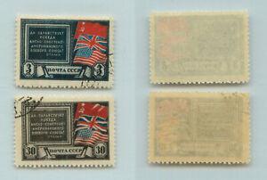 La-Russie-URSS-1943-SC-907-908-utilisee-rtb2363