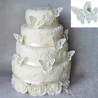 Butterfly New 2pcs Cake Fondant Decorating Sugarcraft Cookie Cutters Mold