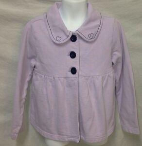 Gymboree-Petite-Mademoiselle-Lavender-Purple-Swing-Cardigan-Jacket-Girls-Size-6