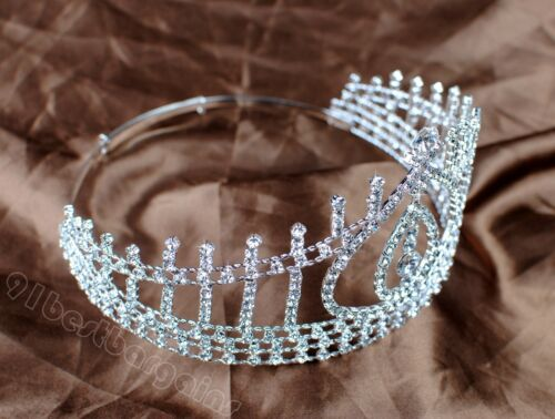 Handmade Wedding Tiaras Beauty Contest Crowns Rhinestones Pageant Party Prom