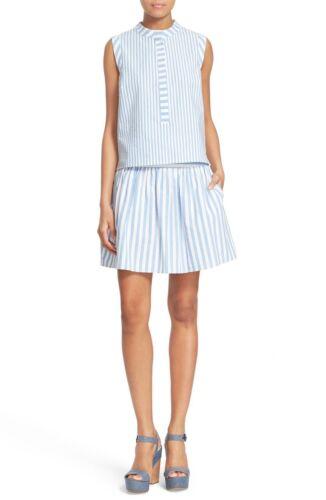 NWT Milly Breton Stripe A-Line Skirt $255 10 Size 2 6