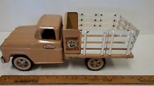1960-TONKA-Ford-034-Stake-Truck-034-Excellent-Original-Complete-Condition