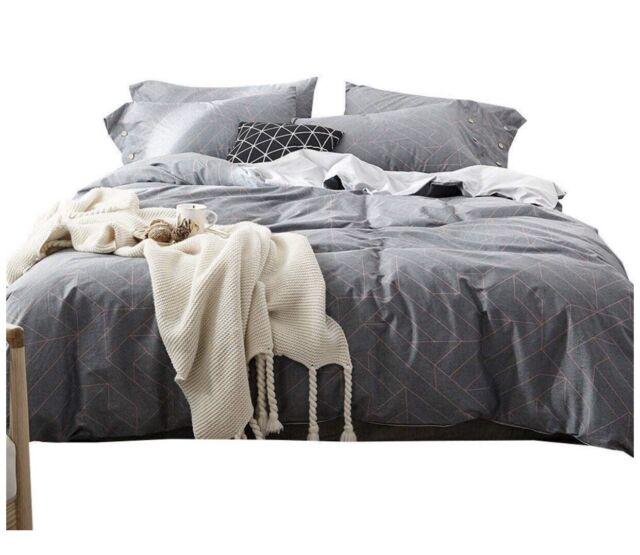 Twin Bedding Duvet Cover Sets Cotton, Grey Bedding Teenage Girl