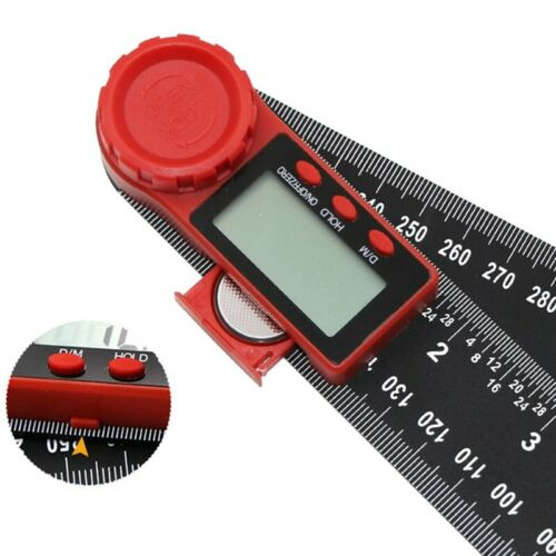 "2 In 1 200mm 8/"" Protractor Ruler Electronic LCD Digital Angle Finder Goniometer"