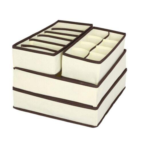 Organizador Plegable Para Los Calcetines De La Ropa Interior Sujetador Cajones D