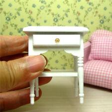 1:12 Dollhouse Miniature Furniture Coffee End Table Sofa Side Table White Sanwoo