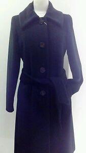 Manteau long col tailleur femme