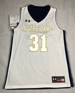 a86a2700983 UNDER ARMOUR WOMENS SMALL DROP STEP NOTRE DAME REVERSIBLE JERSEY #31 ...