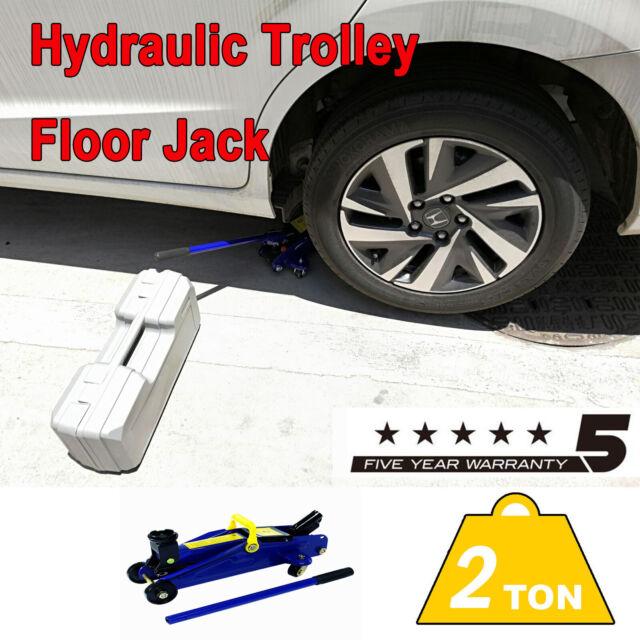 Hydraulic Trolley Floor Jack Car Caravan Van 2 Tonne ROCKET LIFT Blue Tire Tool