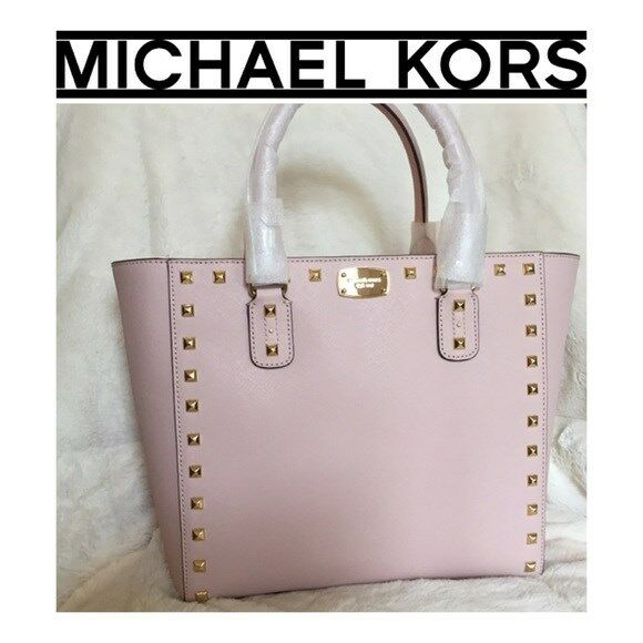 864ab337b21ee5 Michael Kors Sandrine Stud Saffiano Leather LG Tote Bag in Blossom for sale  online | eBay