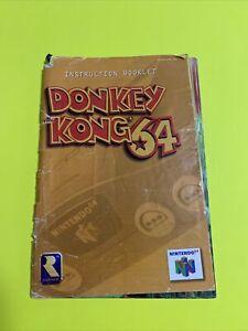 🔥DONKEY KONG 64 - N64 Instruction Booklet Manual Only Book Original Nintendo 64