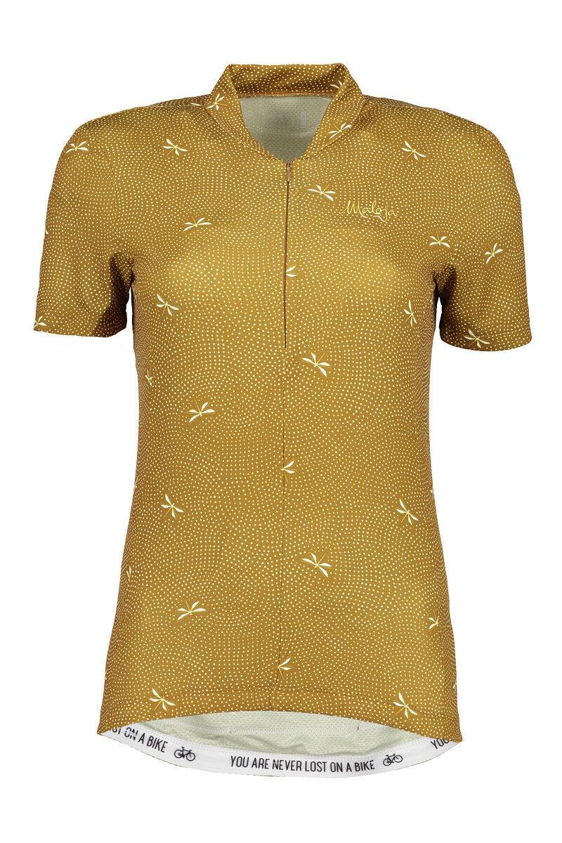 Maloja Jersey Shirt Libellam. Aop 12 Giallo Leggero Prossoezione UV Moondry