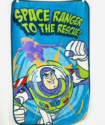 BLUE Personalised Super Soft Fleece Baby Blanket Toy Story Buzz Lightyear