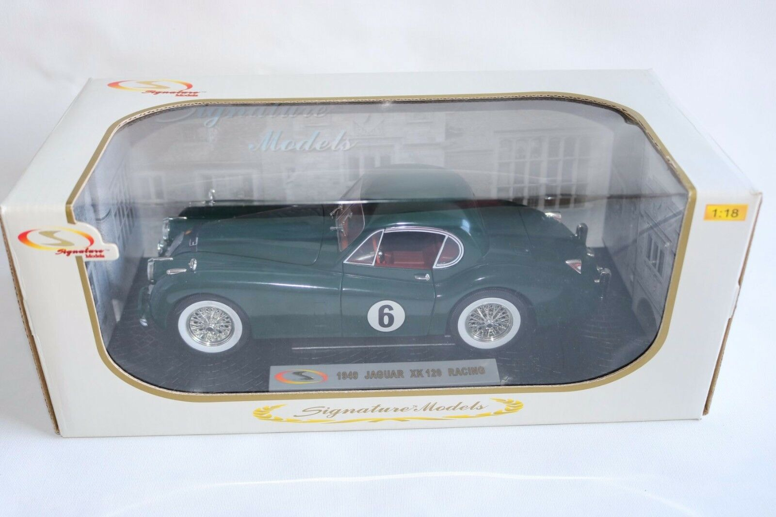 Jaguar xk 120 signature modelle xk120 racing Grün perfekt mint in kasten ovp knapp