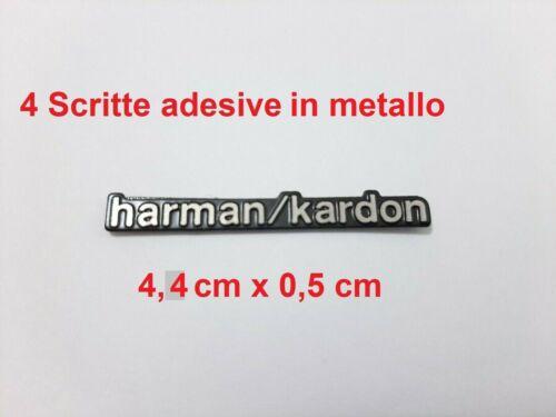 4 Scritte stemmi logh fregi emblema adesivi harman//kardon 4,4 cm x 0,5 cm