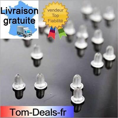 500 silicone souple clair caoutchouc boucle d/'oreille arrière bouchons Bijoux