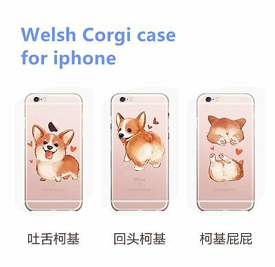 Lovely cute dog shockproof  TPU clear soft Case Cover For Apple iPhone 6 6s p 5