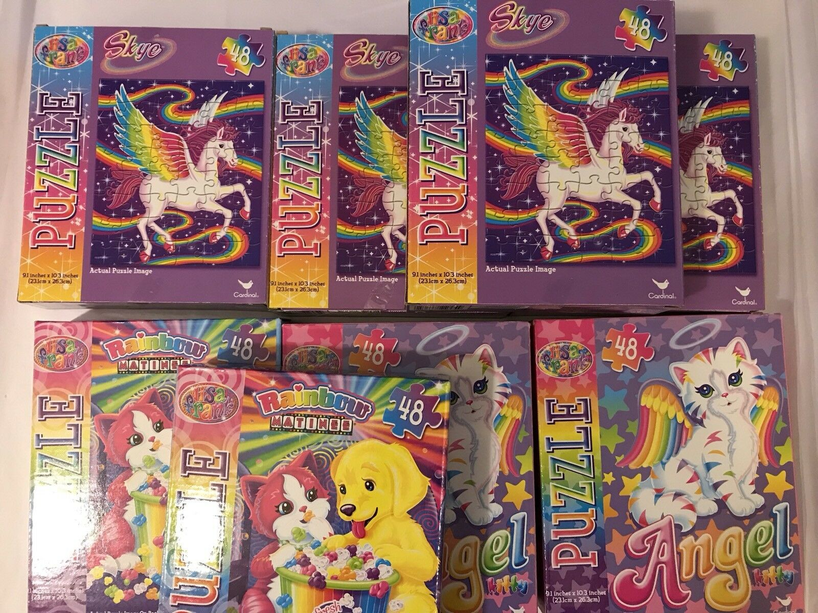 Lisa Frank 48 Piece Jigsaw Puzzles Glitter Art Calendar 17 Piece Lot Never Used