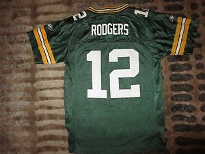4b63c7367b1 Aaron Rodgers #12 Green Bay Packers NFL Reebok Jersey Youth M 10-12 ...
