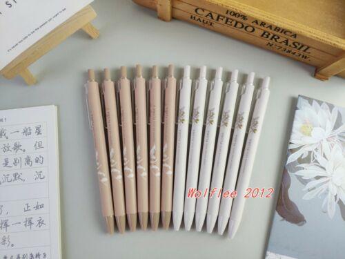 12 pcs M/&G 0.5mm Flora Vegetation Sets Retractable Gel Pen Black ink,H1010