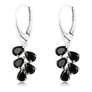 925 Sterling Silver Flickering Round CZ Stone Leverback Earrings /& Pendant Set