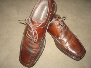 JOHNSTON-amp-MURPHY-BROWN-LACE-UP-DRESS-SHOES-SIZE-10M