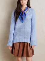 Anthropologie Moth Bell Sleeve Mohair Blend Pullover Sweater S M