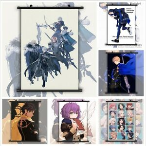 Fire Emblem Three Houses Ashe Byleth Edelgard Poster Scroll Home Decor Cosplay
