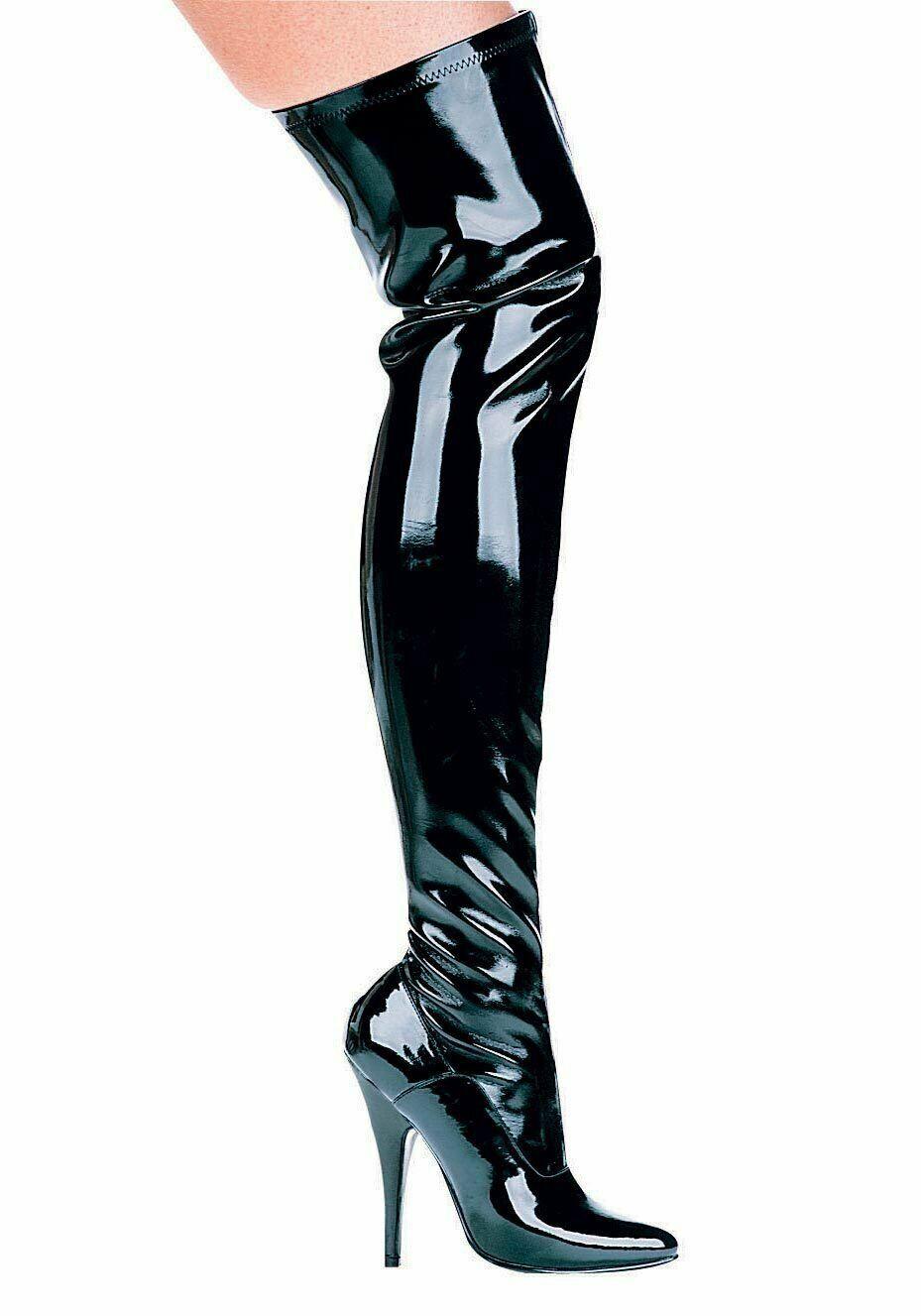 Ellie scarpe 511-ALLY 5 Inch Heel Thigh High Stretch avvio Wouomo Dimensione scarpe