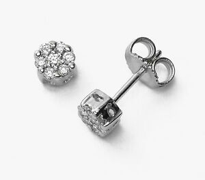 18Carat-White-Gold-Diamond-Daisy-Cluster-Pair-of-Stud-Earrings-0-35-carats-GH-SI