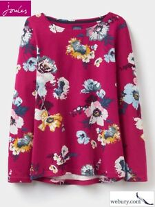 Sizes UK 10-20 Joules Ladies Harbour Print Cream Floral Jersey Top