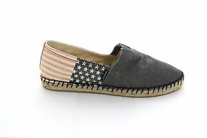 9f51d465a67 Details about Joy & Mario Women's USA Flag Hemp Canvas Shoes Espadrille  Slip-on Flat