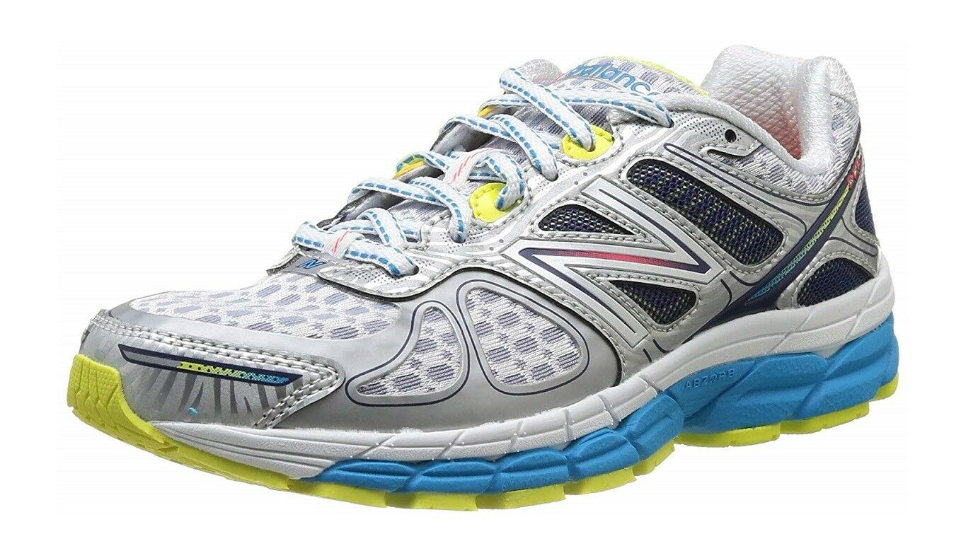New Balance 860v4 Women's Stability Running shoes W860WB4, White White White bluee Silver 5.5 f8a00f
