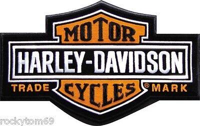 "Harley-Davidson® Long Bar and Shield Patch SM EMB312382 4 1/2"" x 2 15/16"""