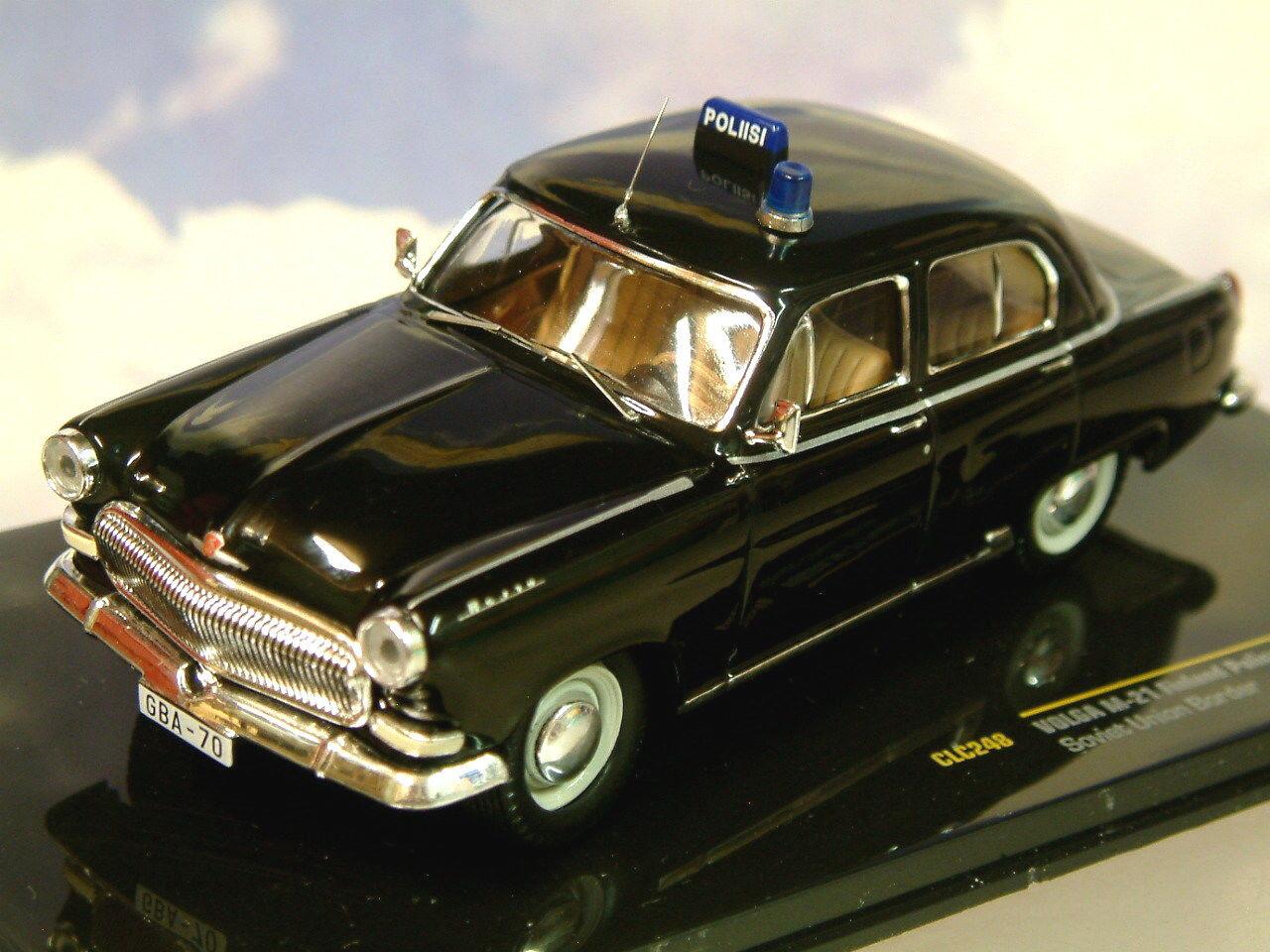 Ixo 1 43 Volga GAZ M21 M-21 Finlande Police (Poliisi) Union Soviétique Bordure
