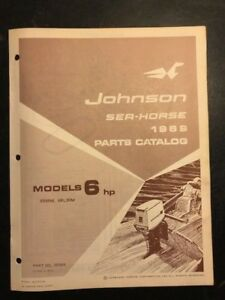 6hp Johnson Outboard Parts
